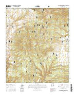 Canyon Creek Mountains New Mexico Current topographic map, 1:24000 scale, 7.5 X 7.5 Minute, Year 2017 from New Mexico Map Store