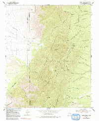 Capilla Peak New Mexico Historical topographic map, 1:24000 scale, 7.5 X 7.5 Minute, Year 1954