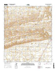 Carlsbad Caverns New Mexico Current topographic map, 1:24000 scale, 7.5 X 7.5 Minute, Year 2017 from New Mexico Maps Store