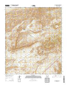 Cat Mountain New Mexico Current topographic map, 1:24000 scale, 7.5 X 7.5 Minute, Year 2013
