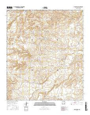 Cawley Draw New Mexico Current topographic map, 1:24000 scale, 7.5 X 7.5 Minute, Year 2017 from New Mexico Maps Store
