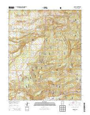 Cebolla New Mexico Current topographic map, 1:24000 scale, 7.5 X 7.5 Minute, Year 2013 from New Mexico Maps Store