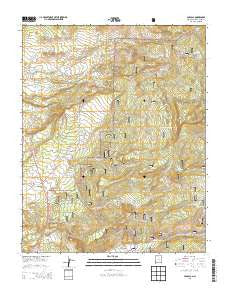 Cebolla New Mexico Current topographic map, 1:24000 scale, 7.5 X 7.5 Minute, Year 2013