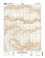 Centerville Corner New Mexico Current topographic map, 1:24000 scale, 7.5 X 7.5 Minute, Year 2017 from New Mexico Map Store
