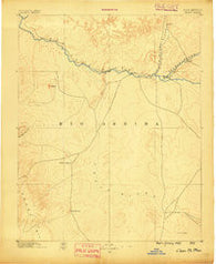 Chaco New Mexico Historical topographic map, 1:250000 scale, 1 X 1 Degree, Year 1889