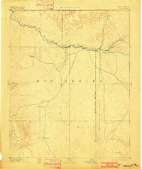 Chaco New Mexico Historical topographic map, 1:250000 scale, 1 X 1 Degree, Year 1892