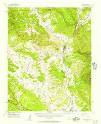 Chama New Mexico Historical topographic map, 1:62500 scale, 15 X 15 Minute, Year 1955