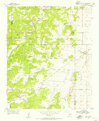 Chilili New Mexico Historical topographic map, 1:24000 scale, 7.5 X 7.5 Minute, Year 1954