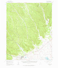 Cimarron New Mexico Historical topographic map, 1:62500 scale, 15 X 15 Minute, Year 1955