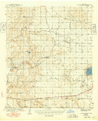 Clayton Basin New Mexico Historical topographic map, 1:62500 scale, 15 X 15 Minute, Year 1943
