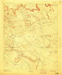 Corazon New Mexico Historical topographic map, 1:125000 scale, 30 X 30 Minute, Year 1894