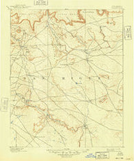 Corazon New Mexico Historical topographic map, 1:125000 scale, 30 X 30 Minute, Year 1892