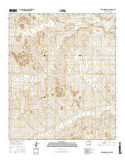 Cottonwood Hills New Mexico Current topographic map, 1:24000 scale, 7.5 X 7.5 Minute, Year 2017 from New Mexico Maps Store
