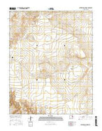 Cottonwood Springs New Mexico Current topographic map, 1:24000 scale, 7.5 X 7.5 Minute, Year 2017 from New Mexico Map Store