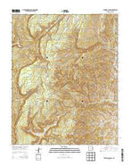 Crevasse Canyon New Mexico Current topographic map, 1:24000 scale, 7.5 X 7.5 Minute, Year 2013 from New Mexico Map Store