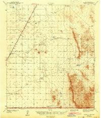 Desert New Mexico Historical topographic map, 1:62500 scale, 15 X 15 Minute, Year 1943