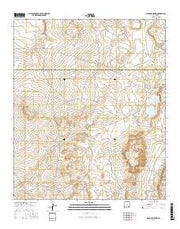 Diamond Mound New Mexico Current topographic map, 1:24000 scale, 7.5 X 7.5 Minute, Year 2017 from New Mexico Maps Store