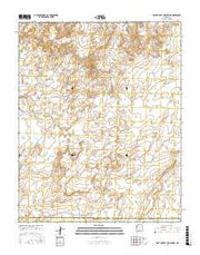 East of Grey Hill Spring New Mexico Current topographic map, 1:24000 scale, 7.5 X 7.5 Minute, Year 2017 from New Mexico Maps Store