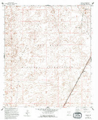 Elwood New Mexico Historical topographic map, 1:24000 scale, 7.5 X 7.5 Minute, Year 1955