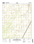 Elwood New Mexico Current topographic map, 1:24000 scale, 7.5 X 7.5 Minute, Year 2017 from New Mexico Map Store