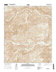Encino Draw New Mexico Current topographic map, 1:24000 scale, 7.5 X 7.5 Minute, Year 2017 from New Mexico Maps Store