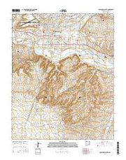 Farmington South New Mexico Current topographic map, 1:24000 scale, 7.5 X 7.5 Minute, Year 2017 from New Mexico Maps Store