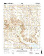 Gibbons Ranch New Mexico Current topographic map, 1:24000 scale, 7.5 X 7.5 Minute, Year 2017 from New Mexico Map Store