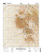 Gold Hill New Mexico Current topographic map, 1:24000 scale, 7.5 X 7.5 Minute, Year 2017 from New Mexico Map Store