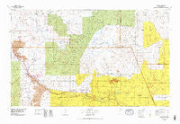 Grants New Mexico Historical topographic map, 1:100000 scale, 30 X 60 Minute, Year 1978