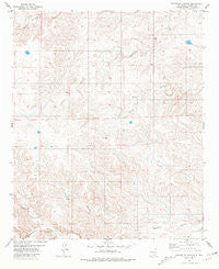 Granville Canyon New Mexico Historical topographic map, 1:24000 scale, 7.5 X 7.5 Minute, Year 1981
