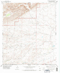 Grapevine Draw New Mexico Historical topographic map, 1:24000 scale, 7.5 X 7.5 Minute, Year 1978