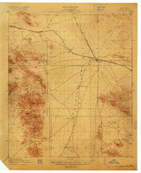 Hachita New Mexico Historical topographic map, 1:62500 scale, 15 X 15 Minute, Year 1918