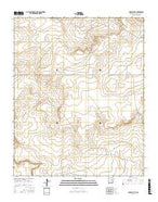 Harben Lake New Mexico Current topographic map, 1:24000 scale, 7.5 X 7.5 Minute, Year 2017 from New Mexico Map Store