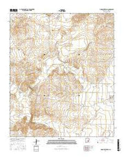 Hondo Reservoir New Mexico Current topographic map, 1:24000 scale, 7.5 X 7.5 Minute, Year 2017 from New Mexico Maps Store