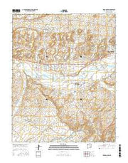 Horn Canyon New Mexico Current topographic map, 1:24000 scale, 7.5 X 7.5 Minute, Year 2017 from New Mexico Maps Store