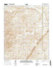 Horseshoe Bend NW New Mexico Current topographic map, 1:24000 scale, 7.5 X 7.5 Minute, Year 2017 from New Mexico Maps Store