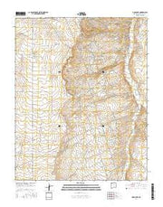 Hugh Lake New Mexico Current topographic map, 1:24000 scale, 7.5 X 7.5 Minute, Year 2017 from New Mexico Maps Store