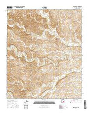 Indian Bluff New Mexico Current topographic map, 1:24000 scale, 7.5 X 7.5 Minute, Year 2017 from New Mexico Maps Store