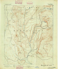 Jemes New Mexico Historical topographic map, 1:125000 scale, 30 X 30 Minute, Year 1890