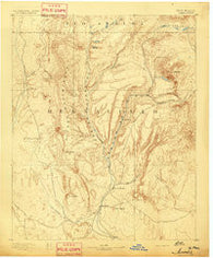 Jemes New Mexico Historical topographic map, 1:125000 scale, 30 X 30 Minute, Year 1892