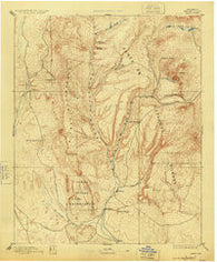 Jemez New Mexico Historical topographic map, 1:125000 scale, 30 X 30 Minute, Year 1892
