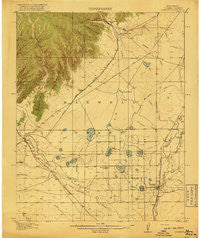 Koehler New Mexico Historical topographic map, 1:62500 scale, 15 X 15 Minute, Year 1917