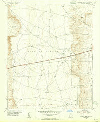 La Mesita Negra SE New Mexico Historical topographic map, 1:24000 scale, 7.5 X 7.5 Minute, Year 1954
