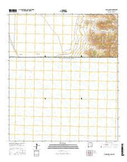 Lang Canyon New Mexico Current topographic map, 1:24000 scale, 7.5 X 7.5 Minute, Year 2017 from New Mexico Maps Store