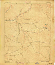 Largo New Mexico Historical topographic map, 1:250000 scale, 1 X 1 Degree, Year 1889