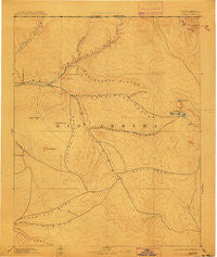 Largo New Mexico Historical topographic map, 1:250000 scale, 1 X 1 Degree, Year 1895