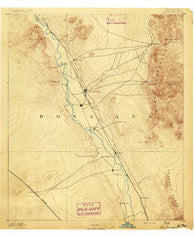 Las Cruces New Mexico Historical topographic map, 1:125000 scale, 30 X 30 Minute, Year 1891
