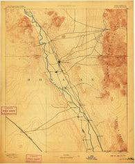 Las Cruces New Mexico Historical topographic map, 1:125000 scale, 30 X 30 Minute, Year 1893