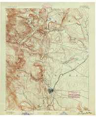 Las Vegas New Mexico Historical topographic map, 1:125000 scale, 30 X 30 Minute, Year 1891