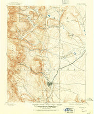Las Vegas New Mexico Historical topographic map, 1:125000 scale, 30 X 30 Minute, Year 1889